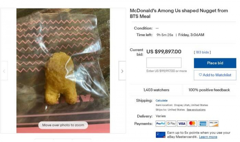Nugget BTS Meal x Among Us (Ebay)