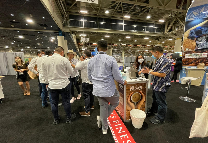 Stan Indonesia pada Specialty Coffee Expo (SCE) 2021 di New Orleans, AS.(Kemendag)